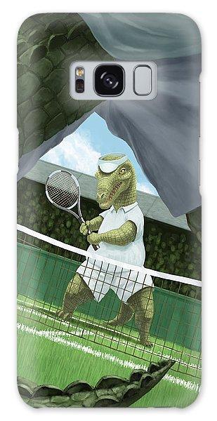 Crocodiles Playing Tennis At Wimbledon  Galaxy Case