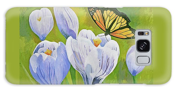 Crocus And Monarch Butterfly Galaxy Case