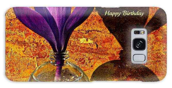 Crocus Floral Birthday Card Galaxy Case