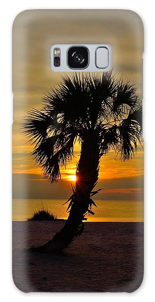 Crooked Palm Sunset Galaxy Case