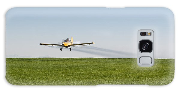 Crop Duster Airplane Flying Over Farmland Galaxy Case