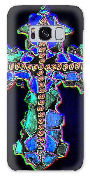 Cross Of Glass Light 2 Dark Galaxy Case by Lisa Brandel