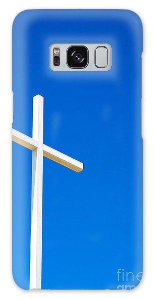 Cross On Blue Sky Galaxy Case