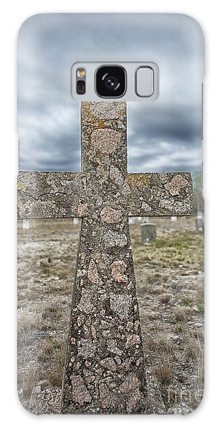 Cross With No Name Galaxy Case by Erika Weber