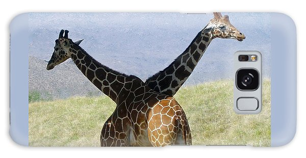 Crossed Giraffes Galaxy Case by Phyllis Kaltenbach
