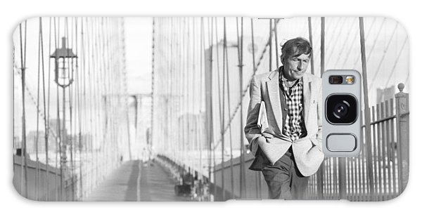 Crossing Brooklyn Bridge Galaxy Case by Dave Beckerman