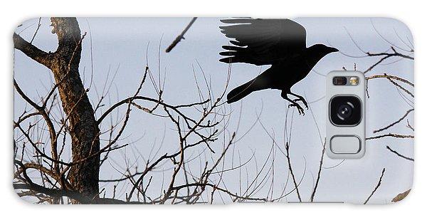 Crow In Flight Galaxy Case
