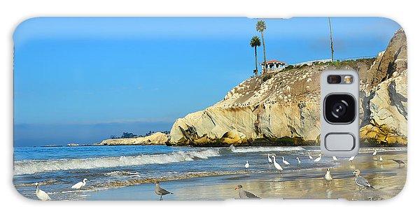 Crowded Beach Galaxy Case