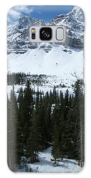 Crowfoot Mountain - Canada Galaxy Case by Phil Banks