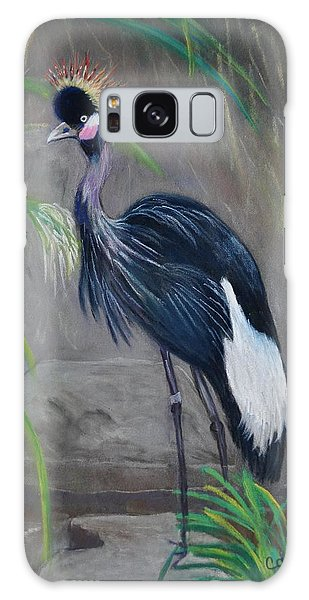 Crowned Crane Galaxy Case