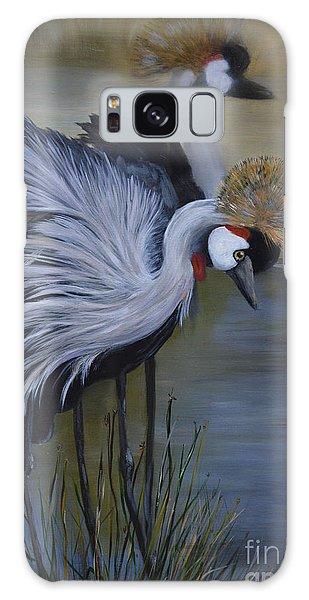 Crowned Cranes Galaxy Case by Nancy Bradley
