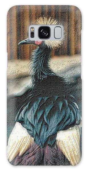 Crowned Crested Crane Galaxy Case by Nadalyn Larsen