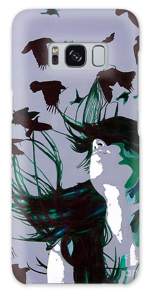 Crows Galaxy Case by Denise Deiloh