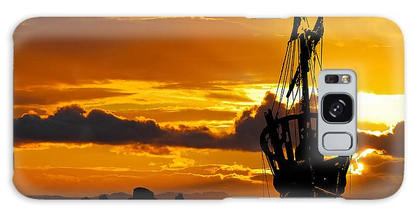 Crows Nest Silhouette On Newfoundland Coast Galaxy Case