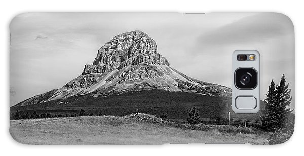 Crowsnest Mountain Black And White Galaxy Case