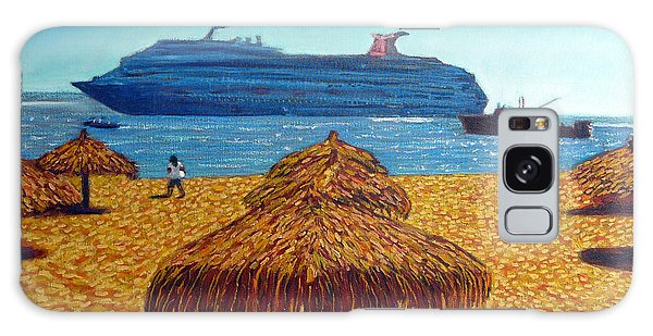 Cruise Ship With Umbrellas Galaxy Case by Gerhardt Isringhaus