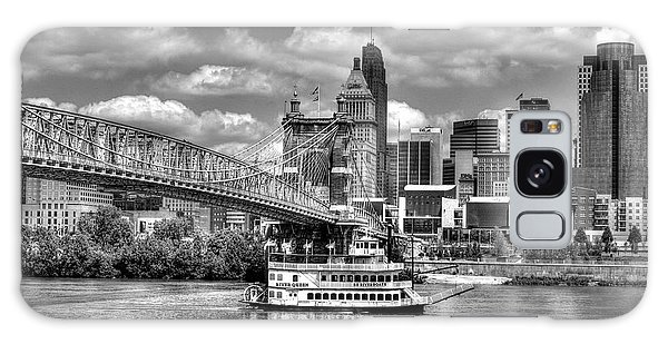 Cruising By Cincinnati 3 Bw Galaxy Case