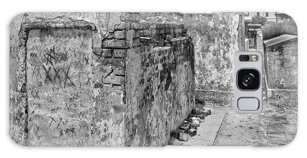Crumbling Wishes At Saint Louis Cemetery In Black And White Galaxy Case
