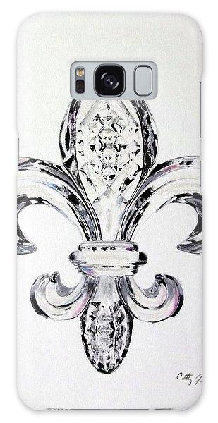 Crystal Fleur De Lis Galaxy Case