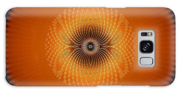 Crystal Orange Galaxy Case