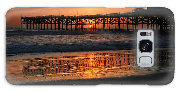 Crystal Pier Sunset Galaxy Case