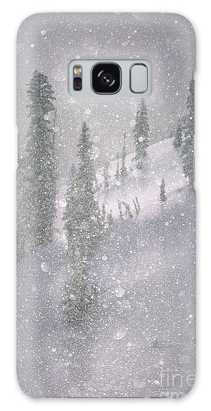 Crystalized Snowflakes Falling While Being Backlit By The Sun Galaxy Case