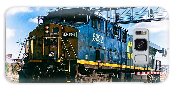Csx 5292 Warner Street Crossing Galaxy Case by Bill Swartwout