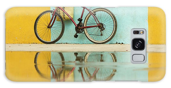 Bicycle Galaxy Case - Cuba, Trinidad Bicycle And Reflection by Brenda Tharp