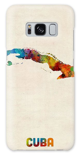 Cuba Watercolor Map Galaxy Case