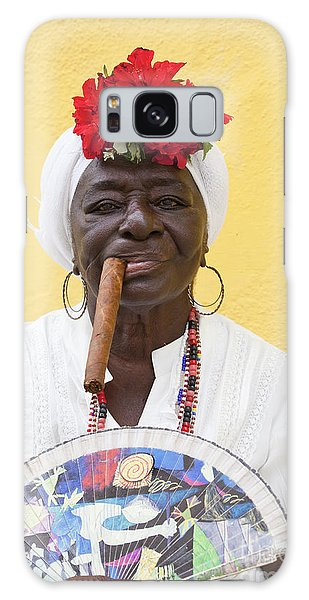 Cuban Lady Two Galaxy Case
