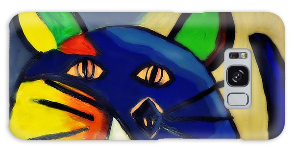 Cubist Inspired Cat  Galaxy Case by Mindy Bench