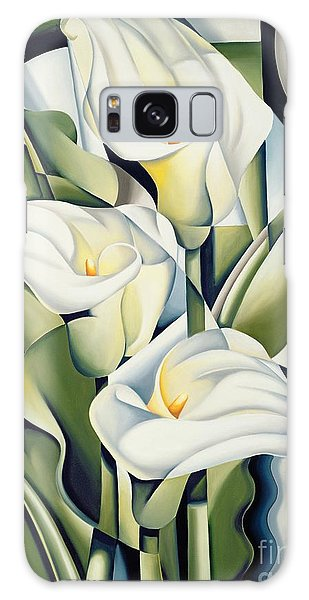Cubist Lilies Galaxy Case by Catherine Abel