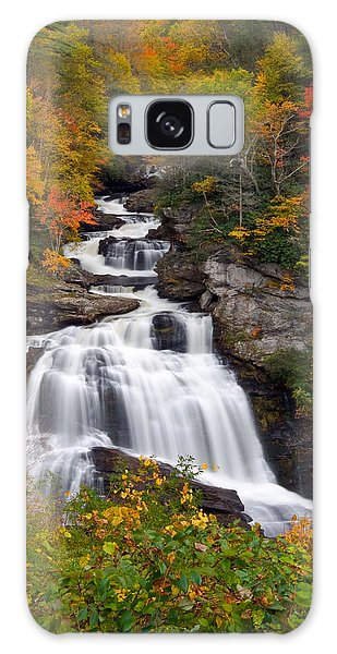 Cullasaja Falls - Wnc Waterfall In Autumn Galaxy Case