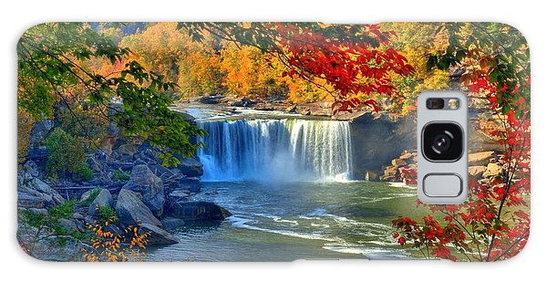 Cumberland Falls In Autumn 2 Galaxy Case