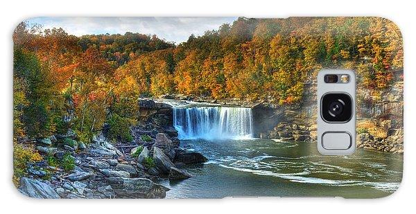 Cumberland Falls In Autumn Galaxy Case