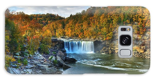 Cumberland Falls In Autumn Galaxy Case