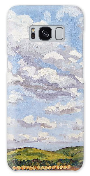 Galaxy Case featuring the painting Cumulus Clouds Over Flint Hills by Erin Fickert-Rowland