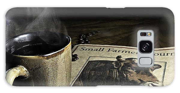 Cup Of Coffee And Small Farmer's Journal 1 Galaxy Case