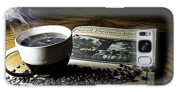 Galaxy Case featuring the photograph Cup Of Coffee And Small Farmer's Journal 2 by James Sage