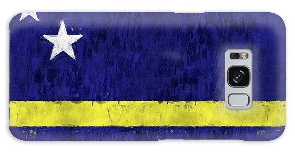 Bahamas Galaxy Case - Curacao Flag by World Art Prints And Designs