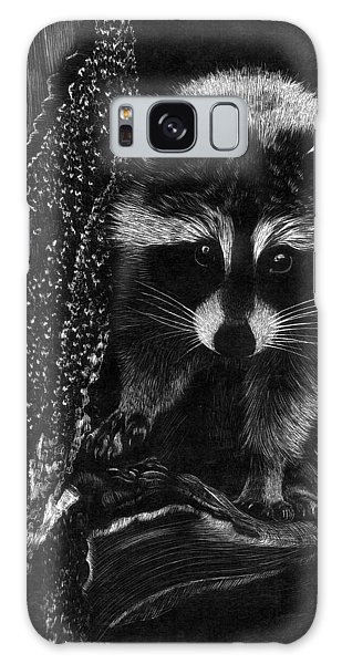 Curious Raccoon Galaxy Case