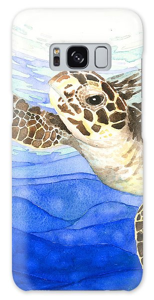 Curious Sea Turtle Galaxy Case
