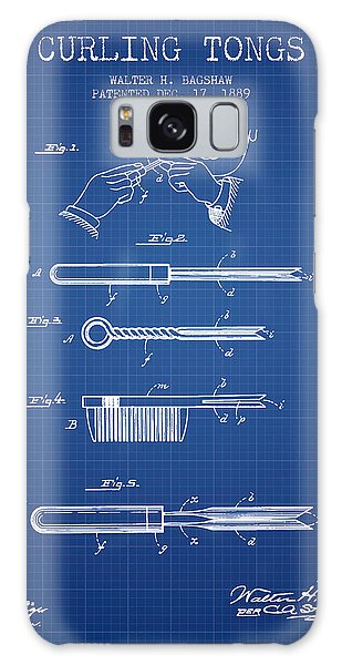 Galaxy Case - Curling Tongs Patent From 1889 - Blueprint by Aged Pixel