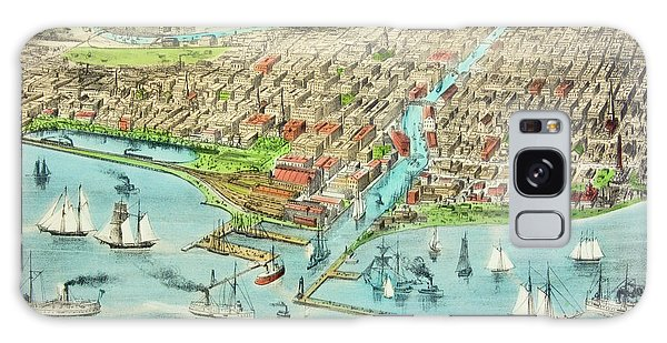 Vintage Chicago Galaxy Case - Currier & Ives Illustration Of Chicago by Vintage Images