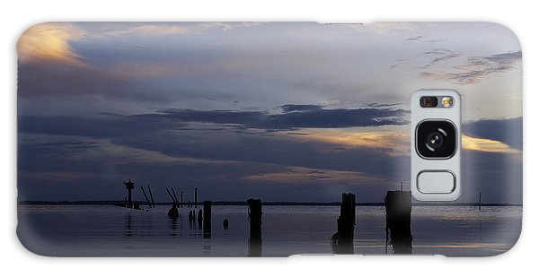 Currituck Sound Sunset Galaxy Case by Craig Szymanski