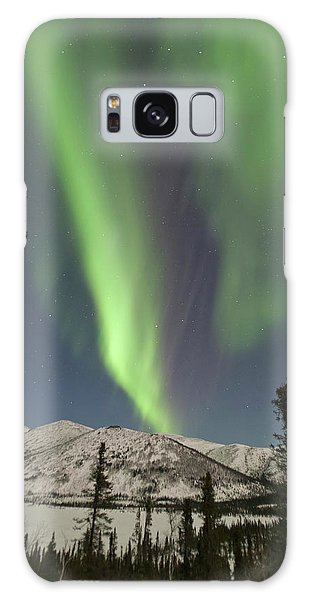Boreal Forest Galaxy Case - Curtains Of Aurora Borealis Dance by Hugh Rose