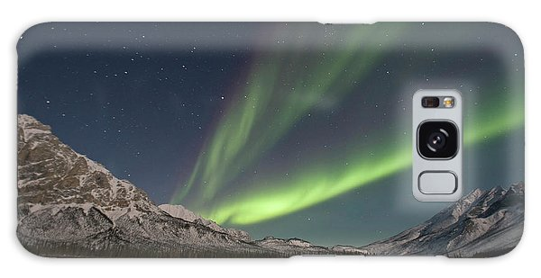 Boreal Forest Galaxy Case - Curtains Of Green Aurora Borealis Fill by Hugh Rose