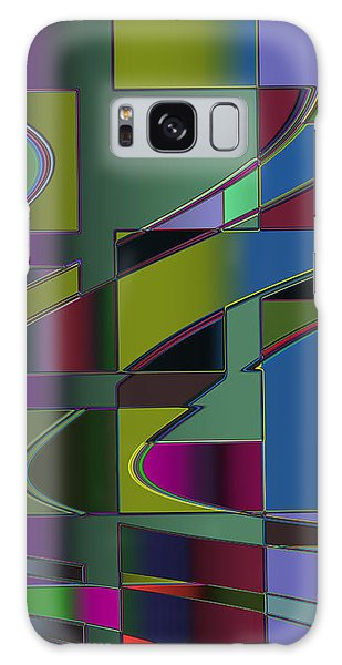 Curves And Trapezoids 3 Galaxy Case by Judi Suni Hall
