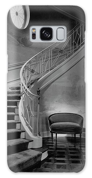 Curving Staircase In The Home Of  W. E. Sheppard Galaxy Case