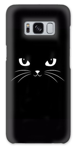 Cute Black Cat Galaxy Case